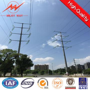 9m 500dan poste acero eléctrico con betún para el mercado de África