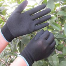 Nitrile Sandy trempé sur des gants en polyester gant de travail