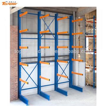 Single sided heavy duty storage steel sheet cantilever racks