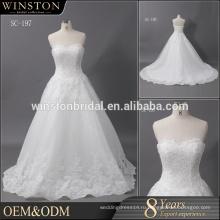 Поставщик Гуанчжоу тюль кристалл свадебное платье бальное платье свадебные платья