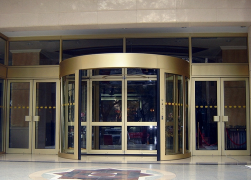 Ningbo GDoor Two Wing Revolving Doors with Powerful Automatic Door Operators