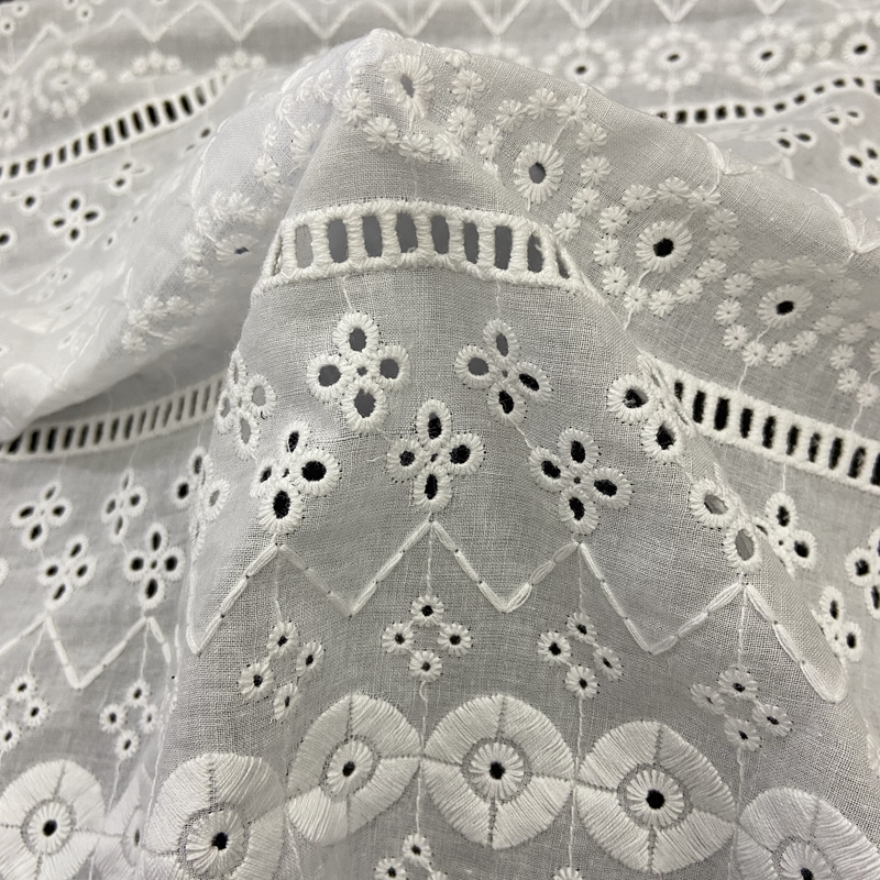 Cotton Eyelet Embroidery Fabric P4