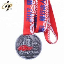 Antique sliver metal custom 3D logo running medals