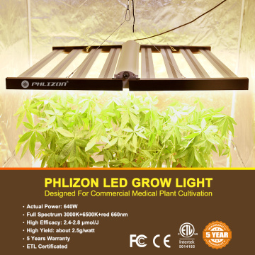 Phlizon Dimmerabile 640W Samsung Led Grow Light Pieghevole