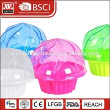 boîte en plastique en gros seul bon marché clair cupcake