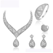 Conjunto-157 XUPING hot sale da moda novo design Ródio cor jóias colar brinco e anel para as mulheres conjunto de jóias de casamento