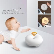 2017 New Baby Lamp Sleep Aid USB Recarregável Multicolor Relaxante Cetáceo Bonito Infantil