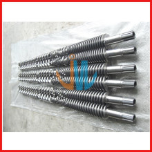 Barril bimetálico cónico de doble tornillo para WPC