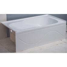 Горячий продавать Белый интегрального ванной фартук с левой стороны слив