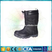 Com forro polar crianças botas quentes impermeáveis botas de chuva