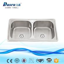 Évier de ferme de Cabinet de cuisine d'acier inoxydable de faible division avec le distillateur sous l'eau