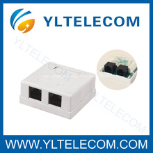 Surface Mount Box mit RJ45-Buchsen Dual Port