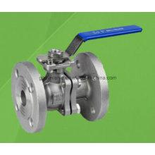 Válvula de esfera flutuante flangeada de aço inoxidável 2PC (Q41F)