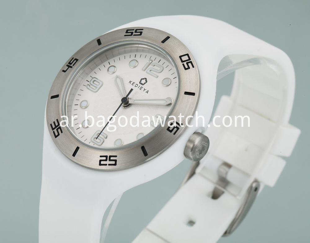 Silicone Band Women S Watch