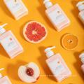 Lotion pour le corps au parfum de pamplemousse bio éclaircissant OEM