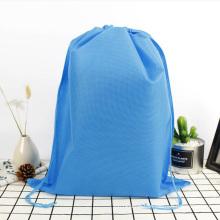 Cheap customized print small portable non woven shoes storage drawstring bag