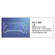 35mm, rail de tête, pièces pour stores, T-025