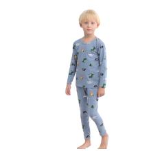 Jungen Mädchen Unisex Langarm Cotton Nightwear Pyjamas Set