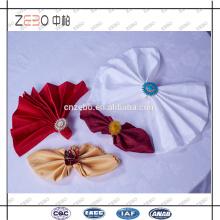 100% poliéster decoração de tecido de linho guardanapos de mesa de jantar extra para hotel usado