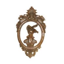 Estatua de latón en relieve Senhora Relievo Escultura en bronce deco Tpy-967/969