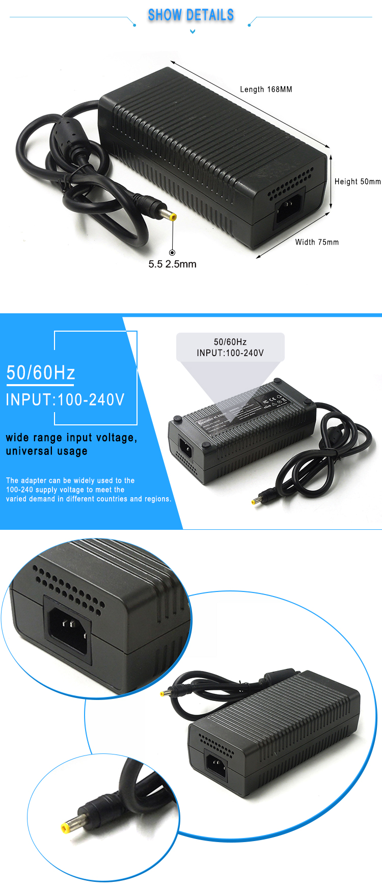 48V 3A AC DC power supply