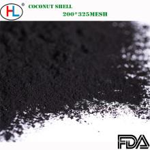 Polvo de carbón de bambú de la categoría alimenticia para el añadido de las bebidas / de las bebidas