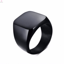 Fashion Designs Stainless Steel One Black Finger Ring