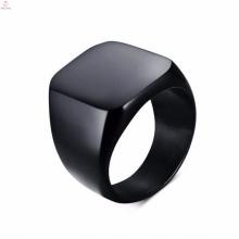 Дизайн Мода Из Нержавеющей Стали Черный Кольцо