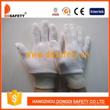Guantes 100% Bleach Cotton Interlock con reversible con muñeca de punto Dch104