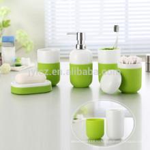 Керамические наборы для ванной с нескользящей силиконовой базы