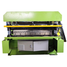 """37"""" Coverage 7/8"""" Corrugated Metal Panel Tile Press Roofing Siding Sheet Making Roll Forming Machines China"""