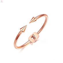 New Simple Stainless Steel Arrow Cuff Bangle Nail Bracelet