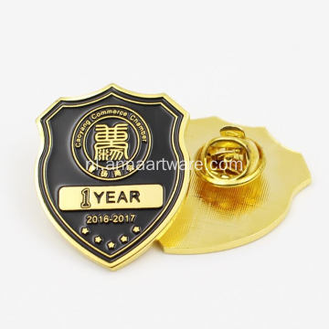 Metal Enamel Badges Custom Printing Button Badge