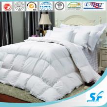 300tc White 100% Cotton Stripe Hotel / Home Literie reine