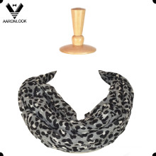 Moda Leopard Print 100 poliéster bufanda de infinito