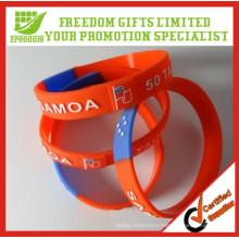 Cheap Price Give Away Logo Printed Custom Silicone Wristband