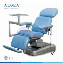 AG-XD107 Dos motores controlan la silla de flebotomía bariátrica eléctrica de hospital ajustable en altura