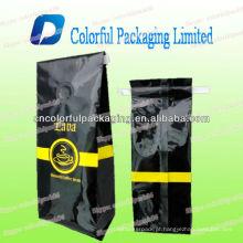 Sacos de café laterais do reforço com válvula de desidratação 8oz 10oz 12oz