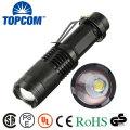 T6 LED pequeña antorcha de bolsillo táctica de luz Zoomable LED linterna con clip