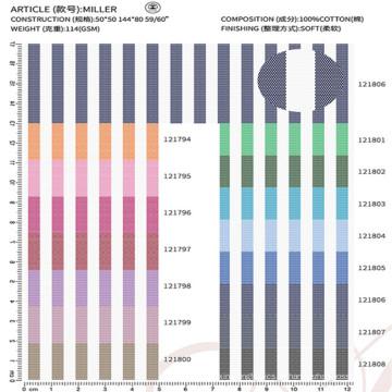 100% Baumwollgewebe Textil für Herrenbekleidung Shirt
