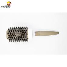Runde Bürste, Nano Thermal Ceramic & Ionic Tech Haarbürste, Runde Fassbürste mit Wildschweinborsten, Textur für Haar-Dryin