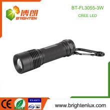 Factory Bulk Sale Emergency Emergency Used 3 * aaa Battery Metal Matériau Zoom 3watt Cree XPE R3 Led High Power Flashlight Torch