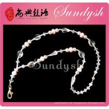 Top-Seller handgemachte Bling funkelnden Crystal Lanyard Perlen Schlüsselbund