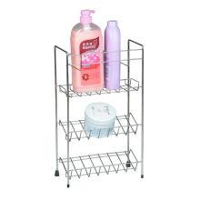 White Bathroom storage Shelf Unit with 3 Tier Shelves