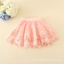 Preço barato meninas saias de boa qualidade branco roupas diárias bordados macios material chidlren saias roupas verão