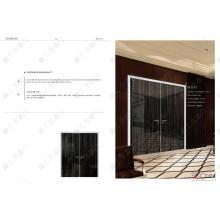 Luxuriöse Stil Hochglanz Doppelschwung Haus Tür