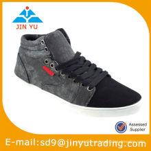 2015 zapatos más baratos de la vulcanización de la lona de China de los hombres