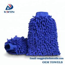 2 Pack Premium Chenille Microfiber Wash Mitt / Wash Glove Lint Free Scratch Free with Private Label