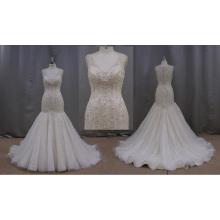 Vestido de noiva plissado sereia China