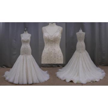 Pleated Mermaid China Wedding Dress